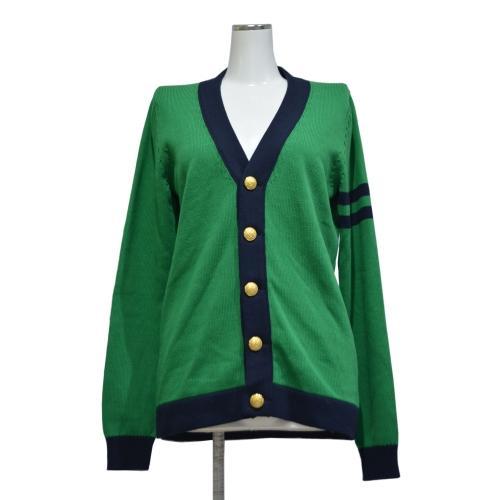 スクールカーディガン(緑)の写真