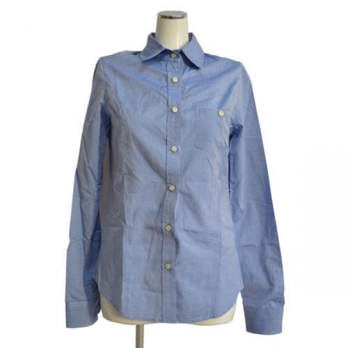 TESEO 襟ワイヤー入りシャンブレーシャツの写真