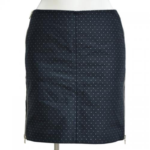 ラメドットサイドジップスカートの写真