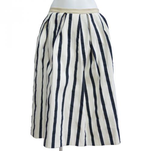 ストライプミモレ丈スカートの写真