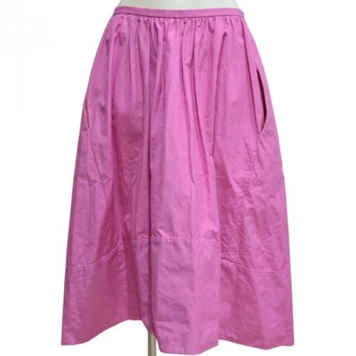 コットンミモレ丈スカートの写真